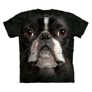 THE MOUNTAIN BOSTON TERRIER SIZE SMALL CUTE PUPPY DOG PET T SHIRT