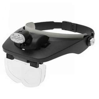 Head magnifying glass 3 Bright LED light Flashlight magnifier Hand