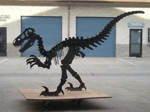 3d Dinosaur metal sculpture. Extra large. 10 feet long, 6 feet tall