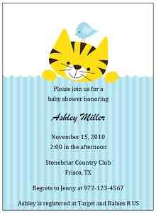 BIRDIE AND TIGER BABY SHOWER INVITATIONS