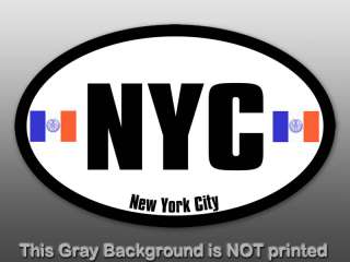 Oval NYC New York City Sticker  decal state flag i love