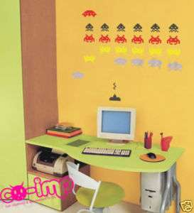 Space Invaders Video Game Mural Art Vinyl Wall Stickers