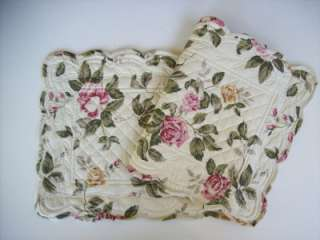 Victorian Heart Sage Rose Quilted Runner 13 x 36