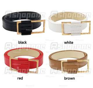 Mens Womens Classical Artificial Leather Buckle Belt 4 Colors