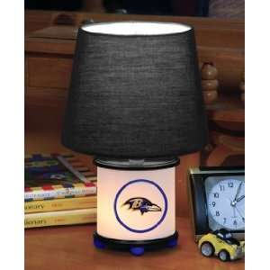 BALTIMORE RAVENS Team Logo 12 Tall DUAL LIT ACCENT LAMP / NIGHT LIGHT