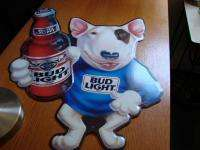 BUD LIGH SPUDS MACKENZIE BUDWEISER BEER IN BAR SIGN |