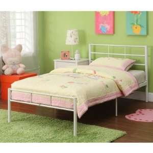 Twin Metal Bed Frame Finish: Black:  Home & Kitchen