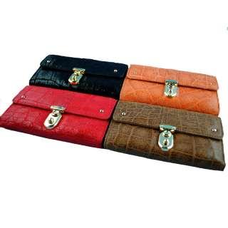 Ladies Women Fashion Genuine leather Clutch Bifold Wallet Purse Bag