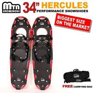 2012 MTN Man Woman Kid Youth 34 Snowshoes up to 345 lbs Free Bag Red