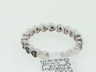 LADIES 0.23CT WHITE GOLD FINISH BLACK DIAMOND BAND RING