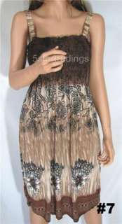 Beach Cover Up One Size S,M,L,XL Womens Summer Floral Dress New