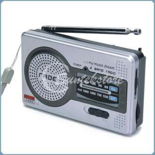 DC 3V Portable FM AM Pocket Radio Receiver 2 Band World