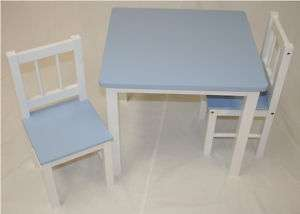 Kids Table and Chair Set (White Base with Colored Tops)