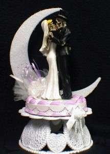 Halloween Wedding Cake Topper LOT Glasses Knife server guest BOOK