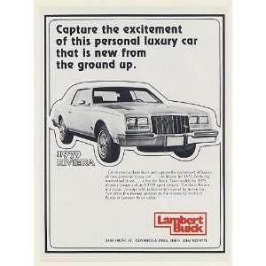 1978 Lambert Buick 1979 Riviera Personal Luxury Car Print