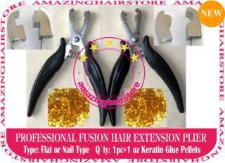 Fusion Glue Pre Bonded Hair Extensions Pliers Tools kit