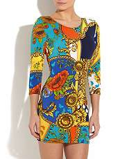 null (Multi Col) John Zack Animal Spot Printed Dress  255091099  New