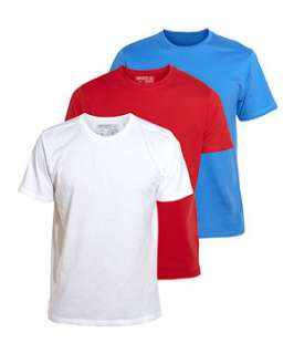 null (Multi Col) 3 Pack Plain Crew Neck T Shirts  250361399  New
