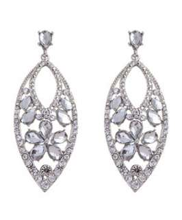 Crystal (Clear) Glam Diamanté Teardrop Earrings  250278190  New