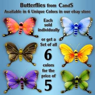 Butterfly Wall Decor Nylon 3D Hanging Art for Girls Bedroom Nursery