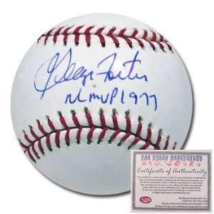 Reds Hand Signed Rawlings MLB Baseball with NL MVP 77 Inscription