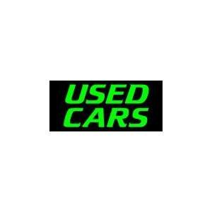 Used Cars Simulated Neon Sign 12 x 27