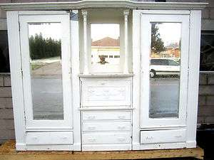 ANTIQUE OAK CLOSET FRONT ~ BACKBAR ~ ARCHITECTURAL SALVAGE |