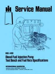 FARMALL Fuel Injection Pump Test Specifications Manual
