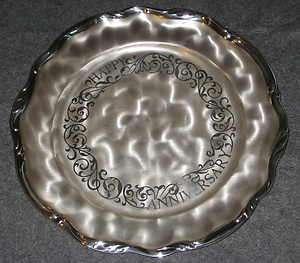 WMF IKORA 1960s Silverplate 11 Platter Happy Anniversary
