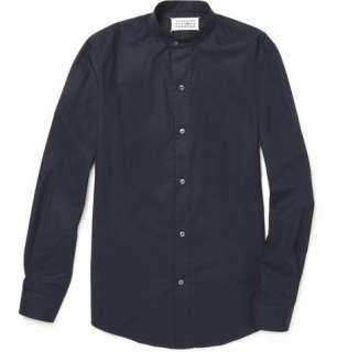 Maison Martin Margiela Grandad Collar Cotton Shirt  MR PORTER