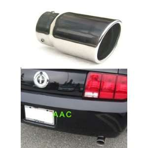 steel exhaust tip w/ mirror chrome finish   Ford Mustang V6 05 07