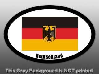 Oval Deutschland Flag Sticker   decal Germany German EU