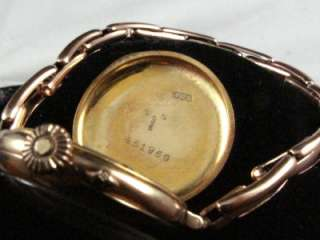 STUNNING VINTAGE SWISS 9K SOLID GOLD LADY WRIST WATCH FANCY DIAL