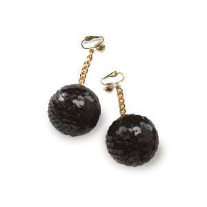 Lets Party By Rubies Costumes Sequined Ball Earrings / Gold