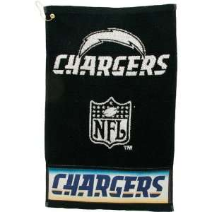 San Diego Chargers Black Woven Jacquard Golf Towel Sports