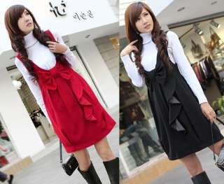 Korea Womens Fashion Sweet Bow knot Vest Mini Dress Sundress Jumper
