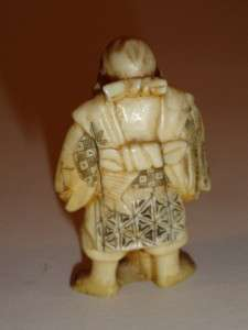 Antique Japanese Ox Bone Netsuke Okimono 7 Gods Figure Collection