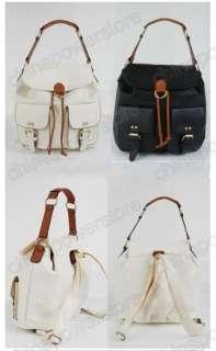 Women Korean Lady Hobo PU leather handbag backpack satchel shoulder