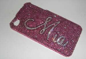 ANY NAME CRYSTAL COVER CASE FOR APPLE IPHONE 4 4G Made With SWAROVSKI