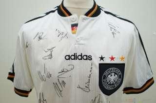 Adidas DFB Deutschland Trikot Shirt kadersigniert Euro EM 1996