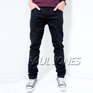 PJ New Mens Casual cotton Rivet Long Straight Slim Fit Pocket Pants
