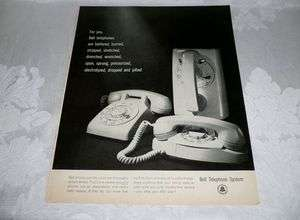 RETRO 1960S WALL ART,BELL TELEPHONE, BATTERED BURNEDWALL PRINCESS