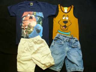 Huge Used Boy 5T 6T Spring Summer Clothes Outfits Shorts Shirts Play
