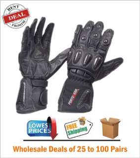 Wholesale Armor Leather Kevlar Gloves Best Motorcycle Winter Gloves 75