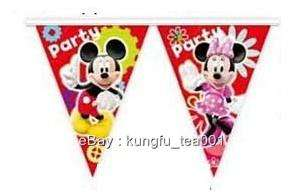 now free disney mickey mouse birthday party bunting flag banner