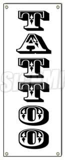 TATTOO BANNER SIGN (Vertical) shop artist body modification art