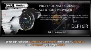 NEW Super Hi Res License Plate Camera, 16X Zoom, 540TV