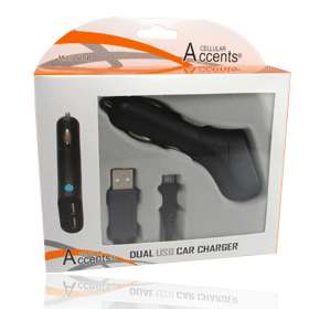 Dual Port Micro USB Car Charger for Motorola Samsung BlackBerry HTC LG