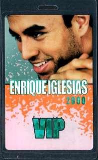 ENRIQUE IGLESIAS backstage pass tour Laminate VIP