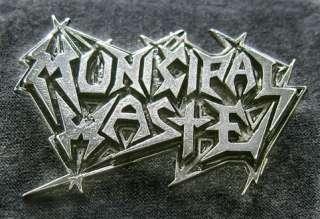 MUNICIPAL WASTE METAL PIN BADGE GAMA BOMB VIOLATOR Merciless Death